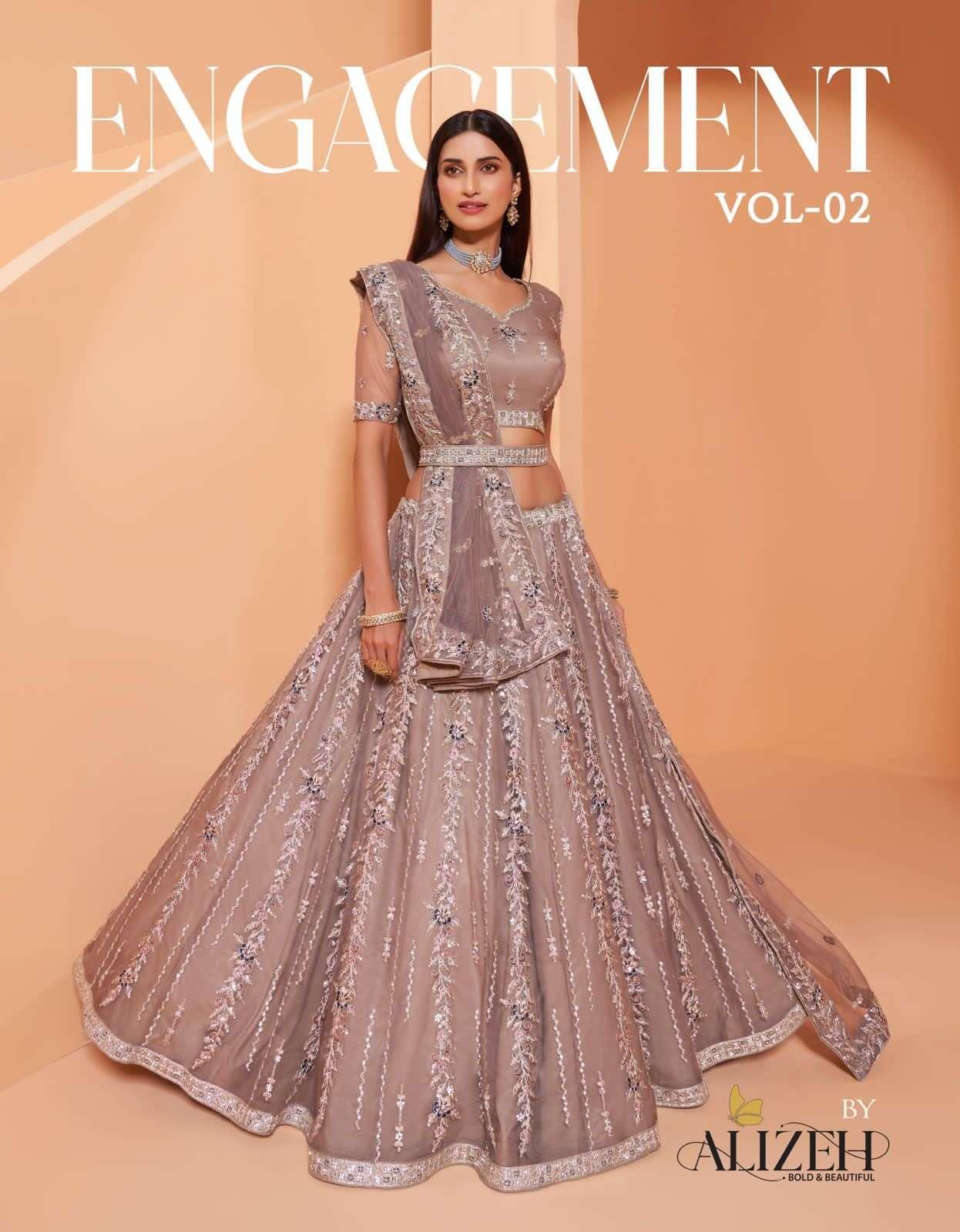 Alizeh Engagement Vol 2 Designer Lehenga Choli Catalog Wholesaler
