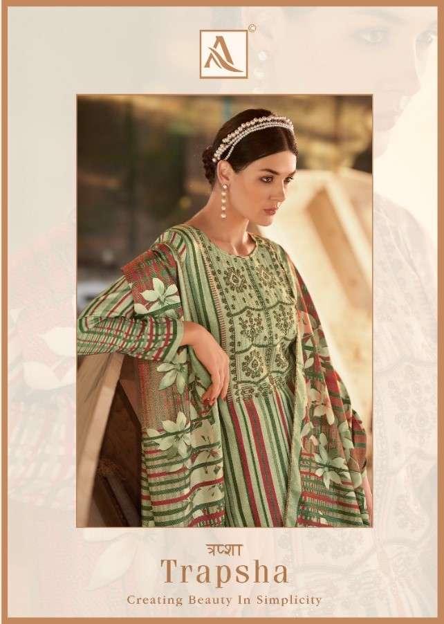 Alok Suit Trapsha Pashmina Salwar Kameez Catalog Wholesale Price