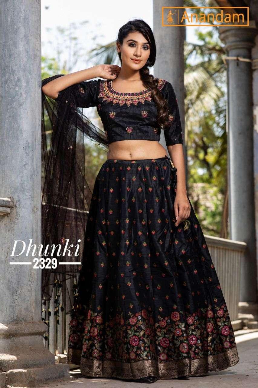 Anandam Dhunki Exclusive Soft Silk Fancy Lehenga Catalog Wholesaler