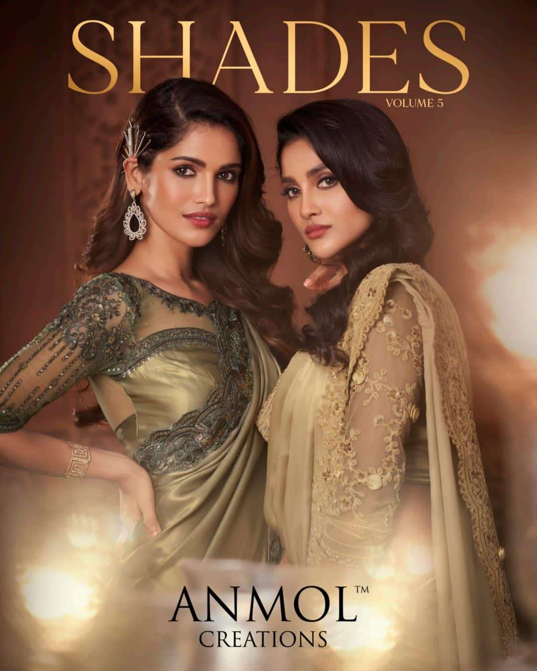 Anmol Creation Shades Vol 5 Designer Party Wear Saree Collection