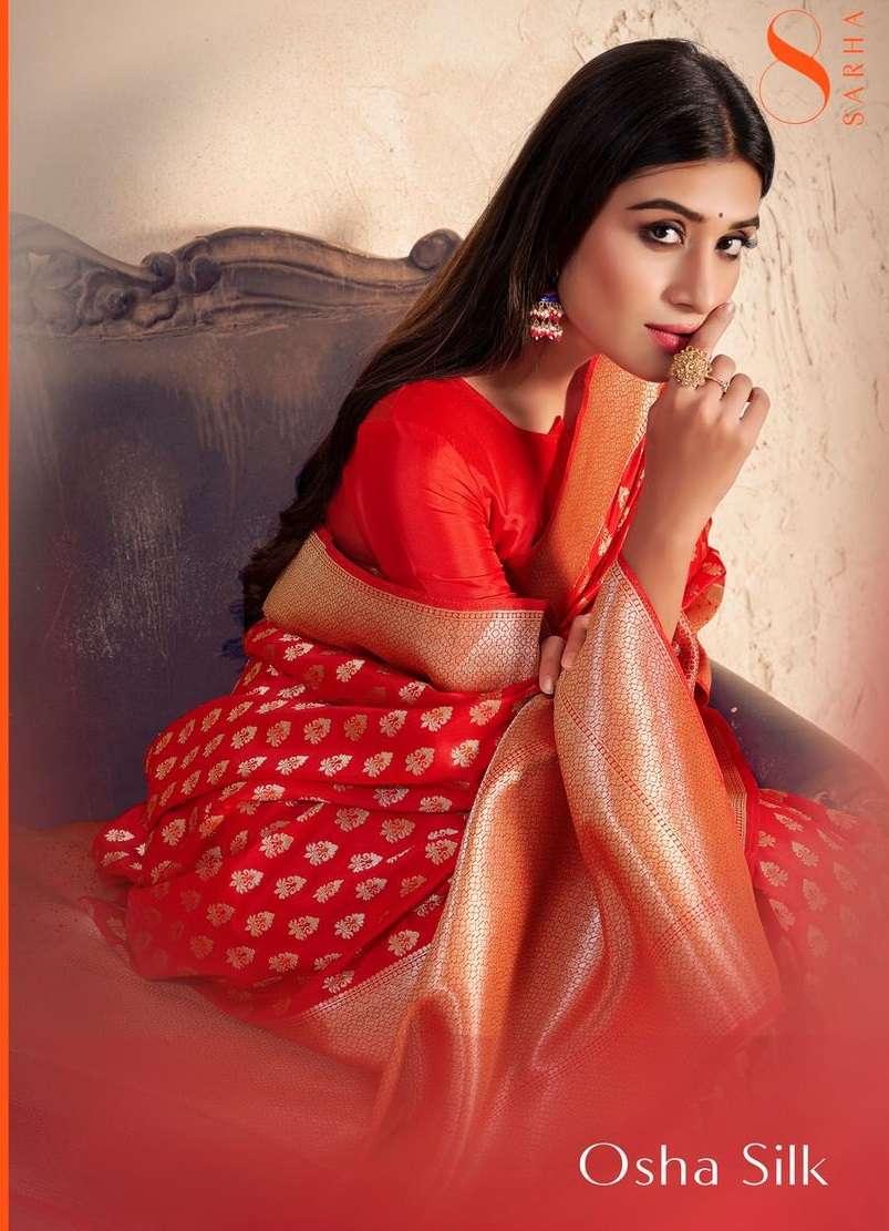 Aura Sarha Osha Silk Exclusive Designer Silk Saree catalog Supplier