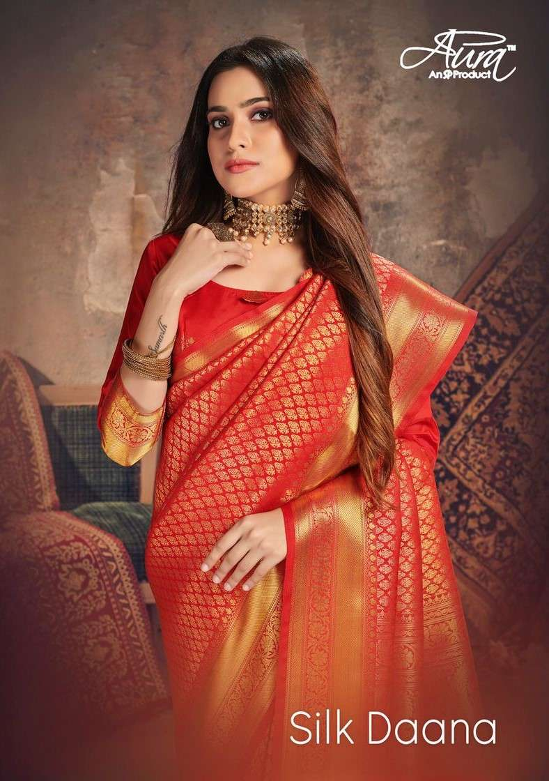 Aura Silk Daana Exclusive Cotton Silk Saree Catalog Wholesale Dealer