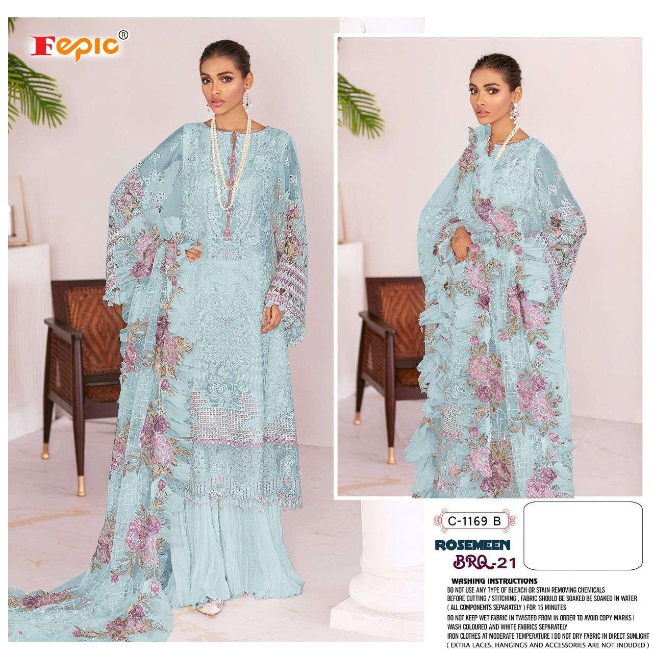 Fepic Rosemeen C 1169 Pakistani Suit Catalog Wholesale Dealer