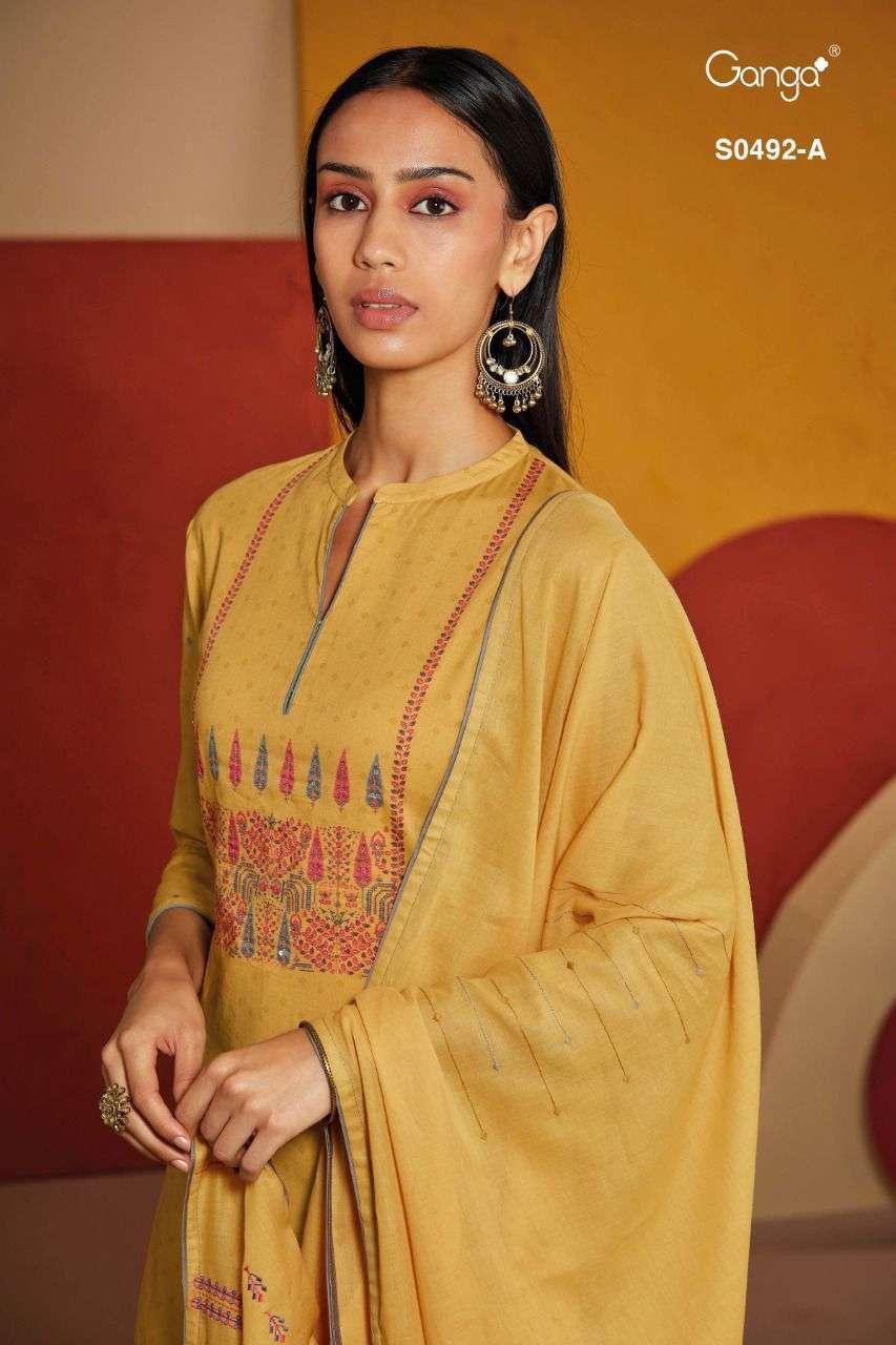 Ganga Eveleen 492 Pure Wool Ladies Suits Online Ganga Wholesaler