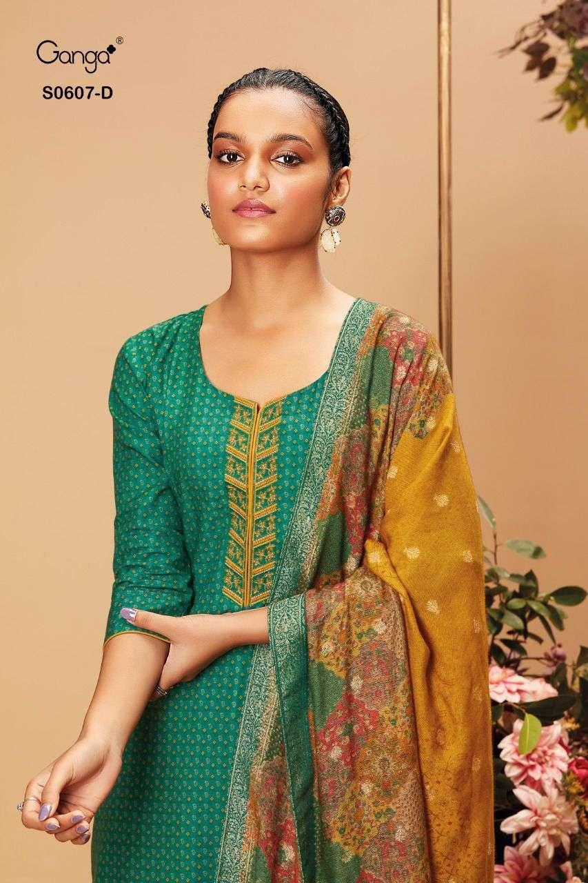 Ganga Livia 607 Designer Winter Wear Woollen Suit New catalog Wholesaler