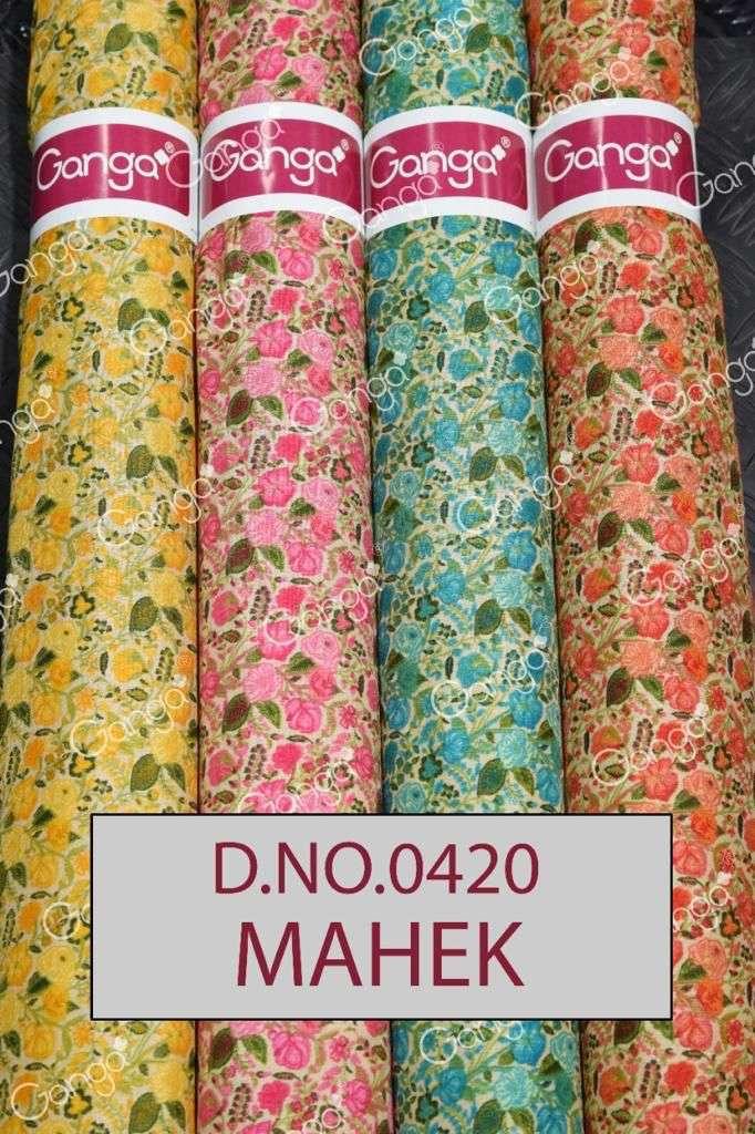 Ganga Mahek All Over Printed Winter Silk Fabrics New Designs