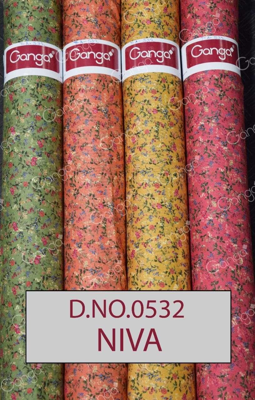 Ganga Niva Digital Printed Woollen All Over Fabrics Designs at Best Rate