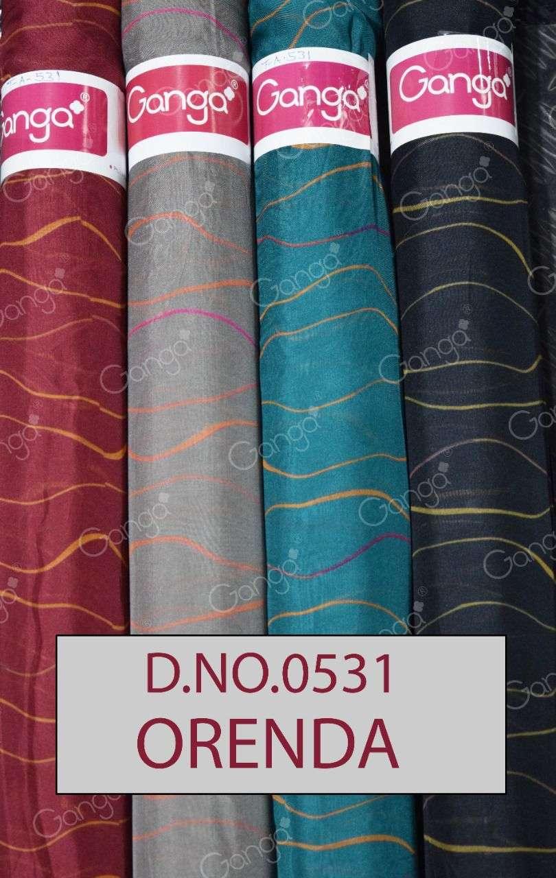 Ganga Orenda Fancy Organza Print fabrics catalog Supplier