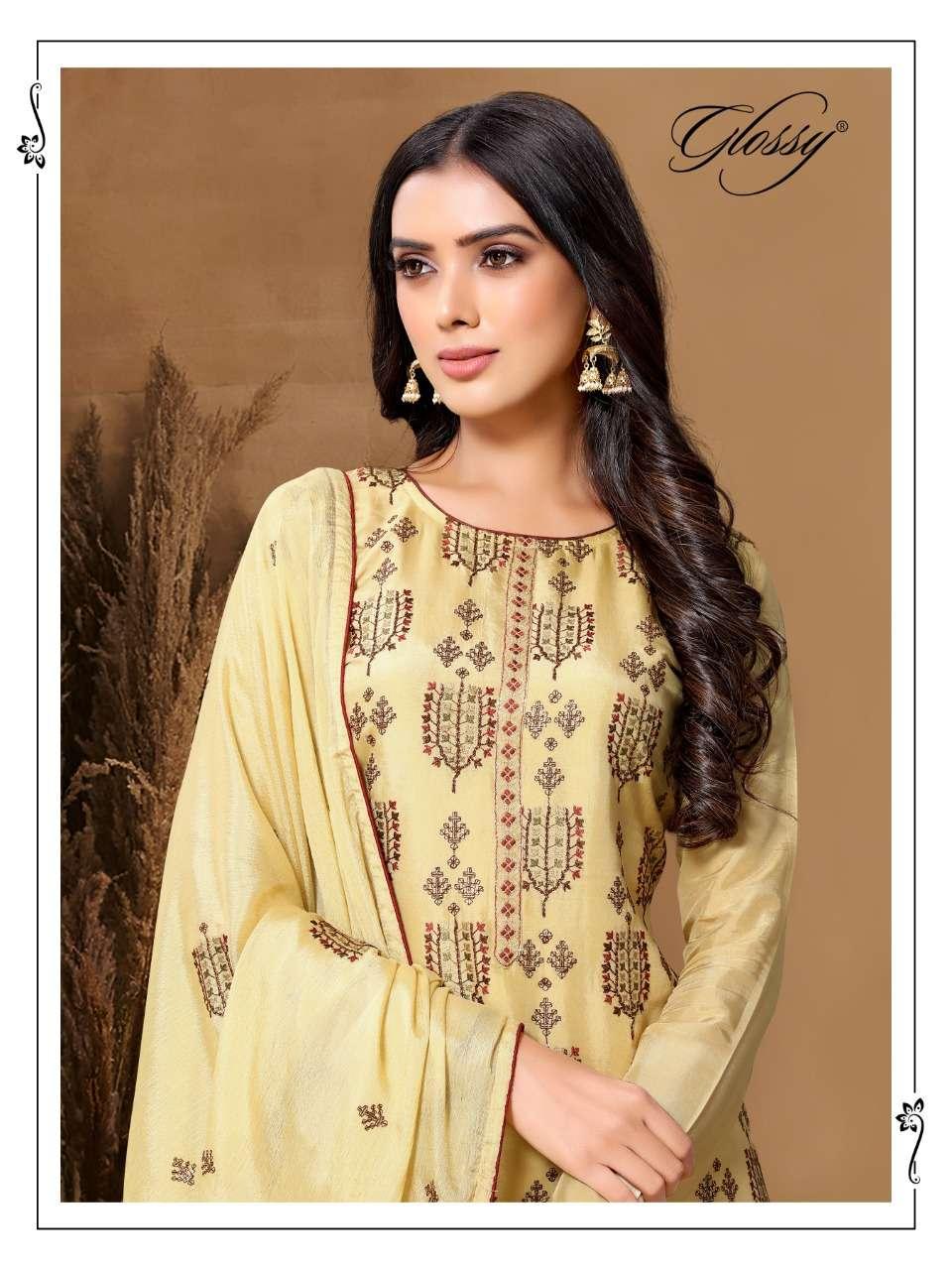 Glosst Natasa 61 Viscose Upada Silk Salwar Suit Wholesale