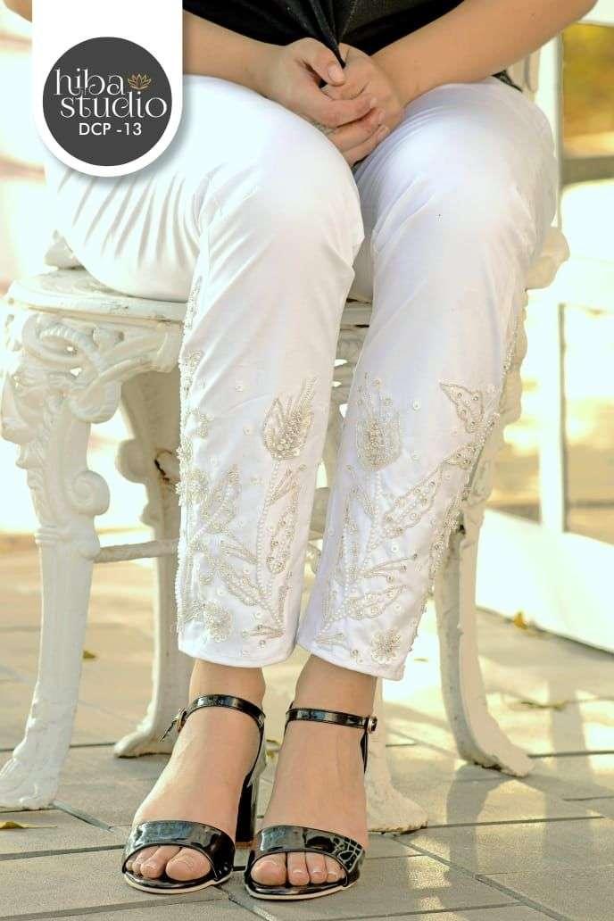 Hiba Studio DCP Vol 13 Fancy Stylish Cotton Pants In Wholesale