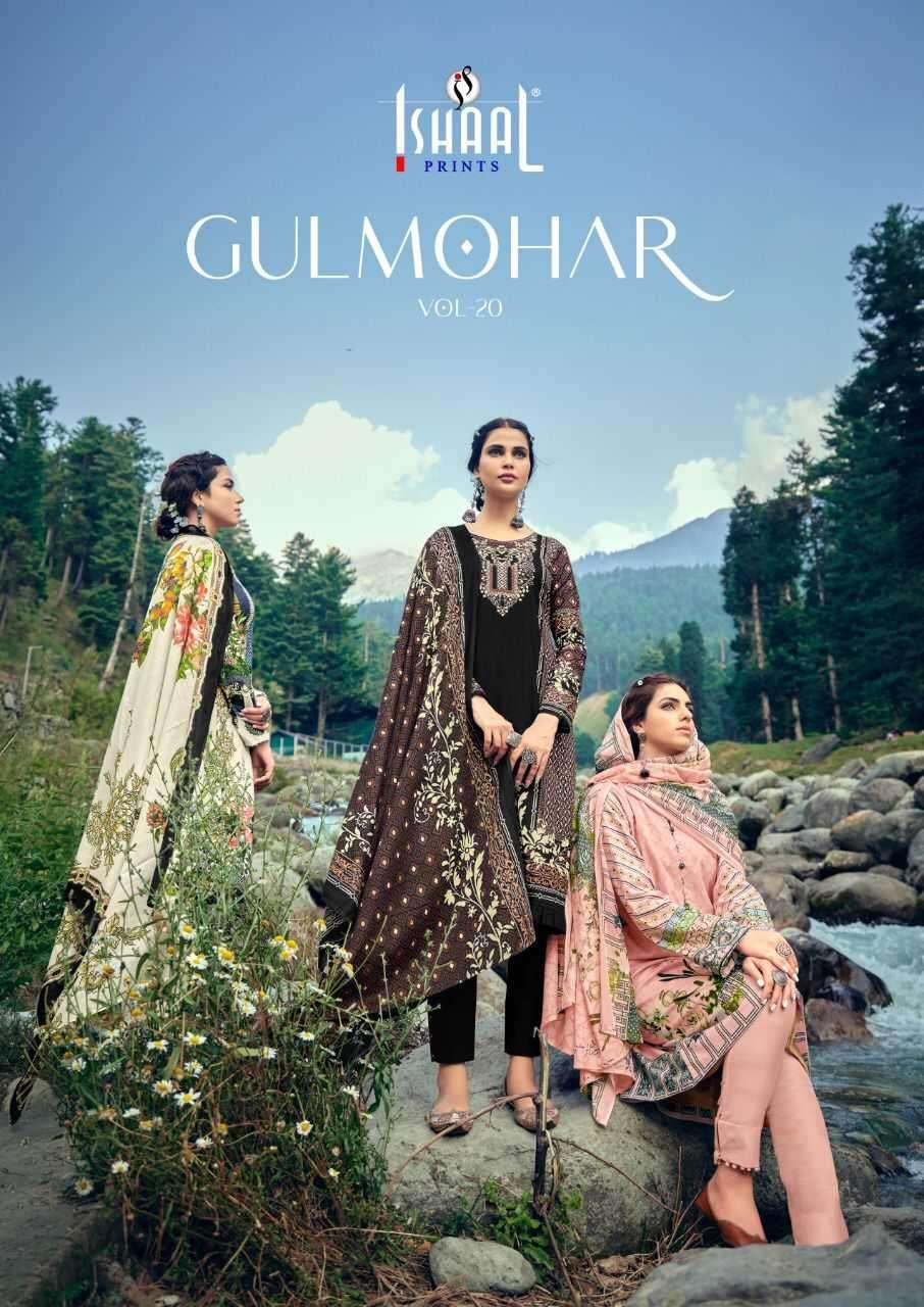 Ishaal Prints Gulmohar Vol 20 Dress Material Wholesale Price