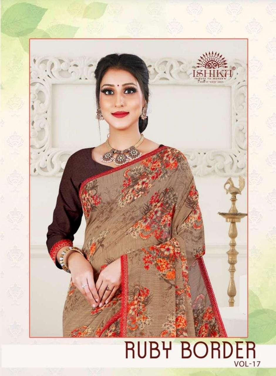 Ishika Ruby Vol 17 Indian Printed Saree New Collection 2021