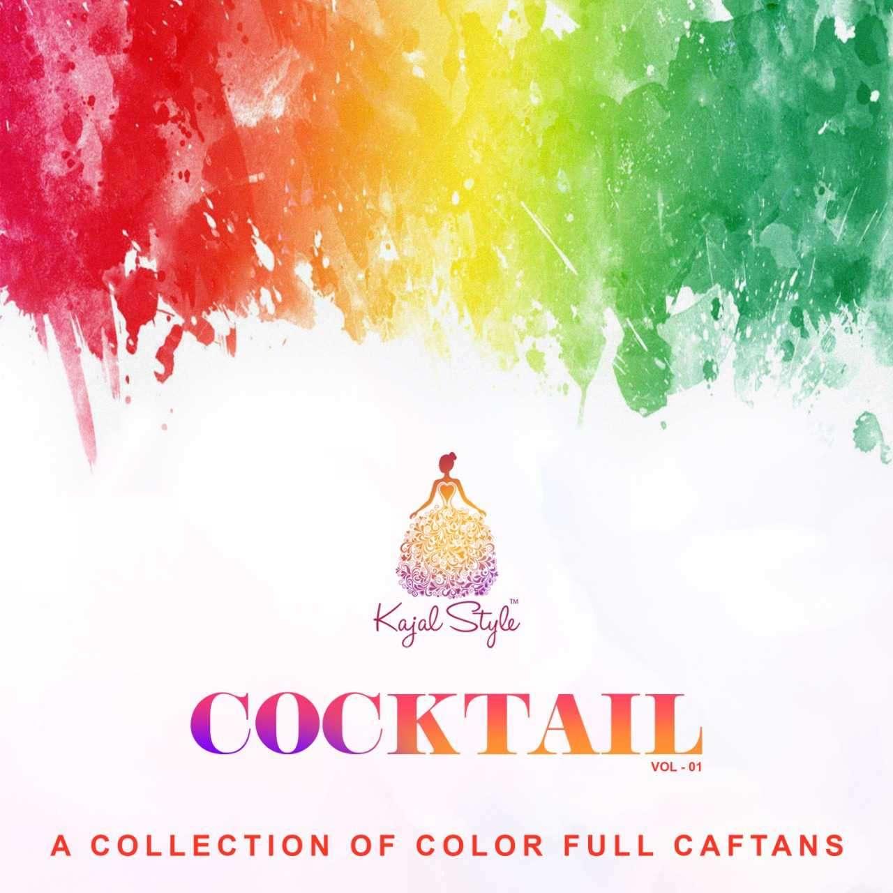 Kajal Style Cocktail Vol 1 Cotton Fancy Kaftan Collection Wholesale