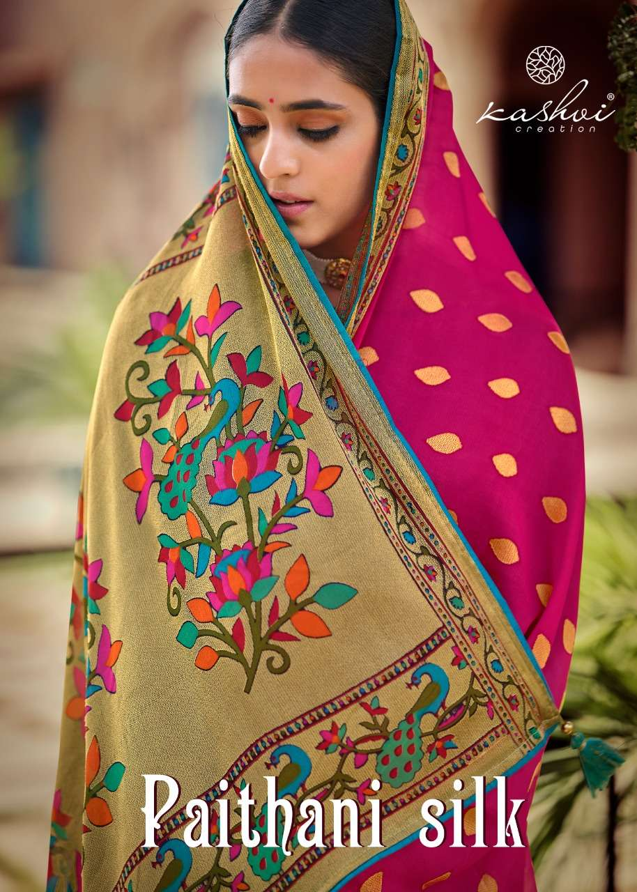 Kashvi Paithani Silk Exclusive Saree New Catalog Wholesaler