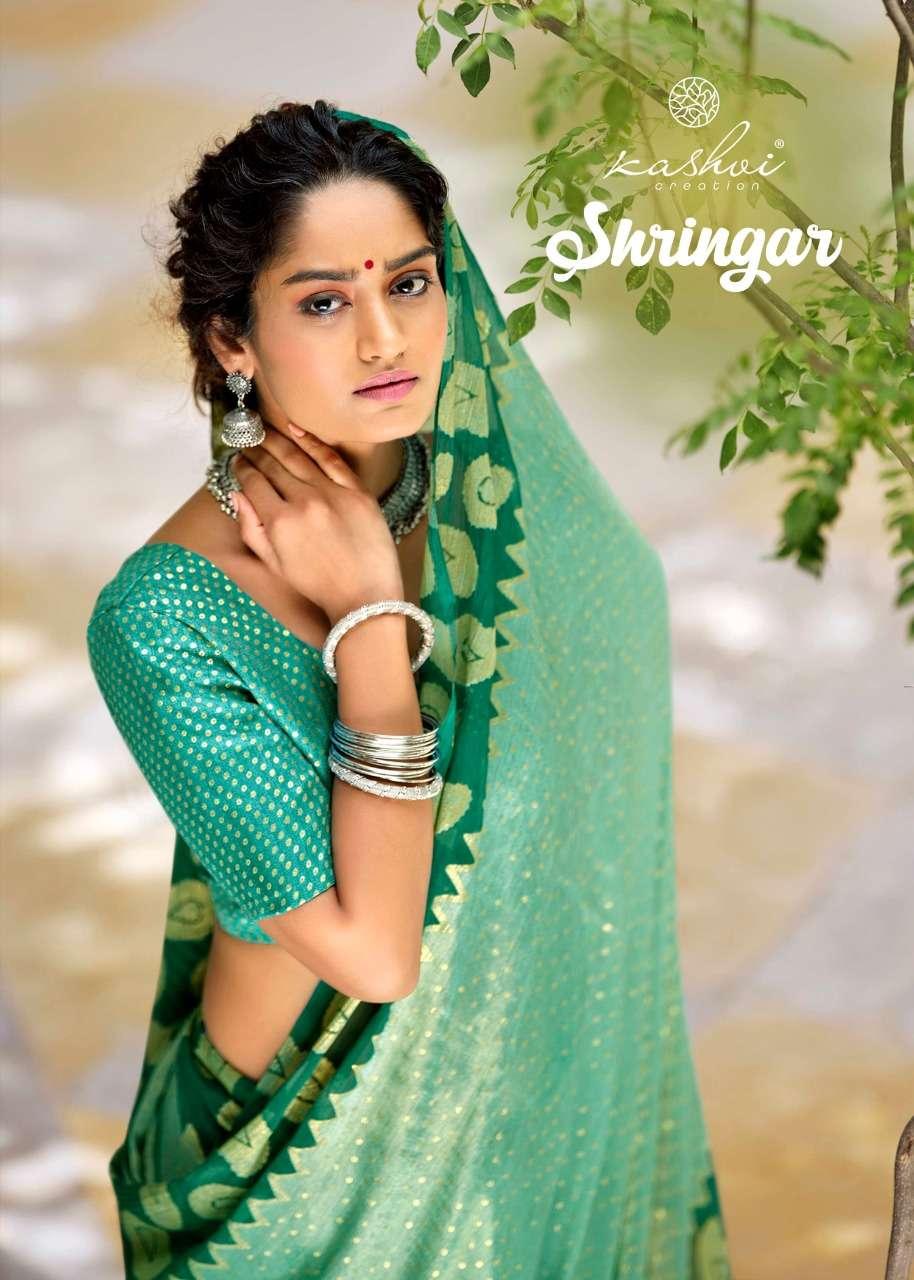 Kashvi Shringar Fancy Chiffon Saree Catalog Wholesale Price