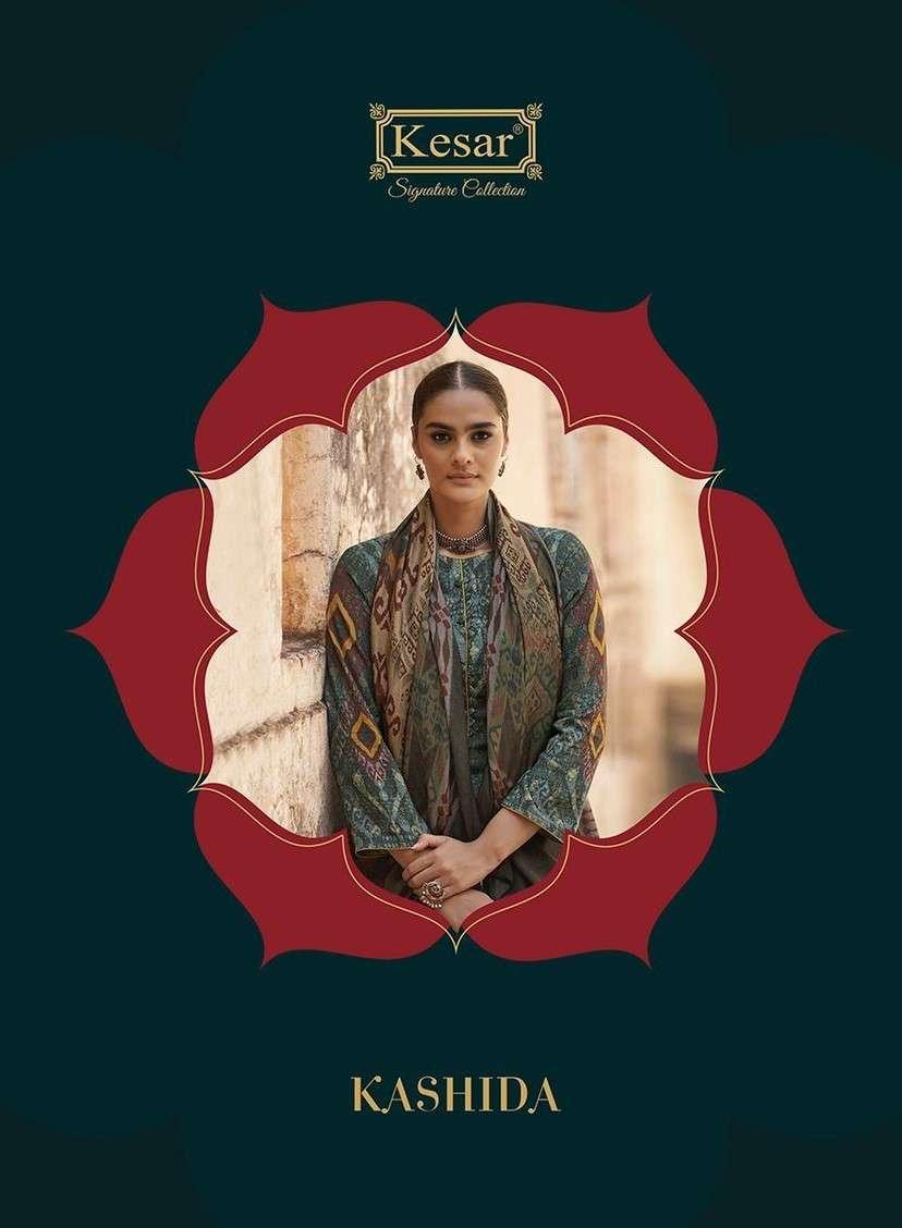 Kesar Kashida By Karachi Prints Pashmina Ladies Suits Wholesaler