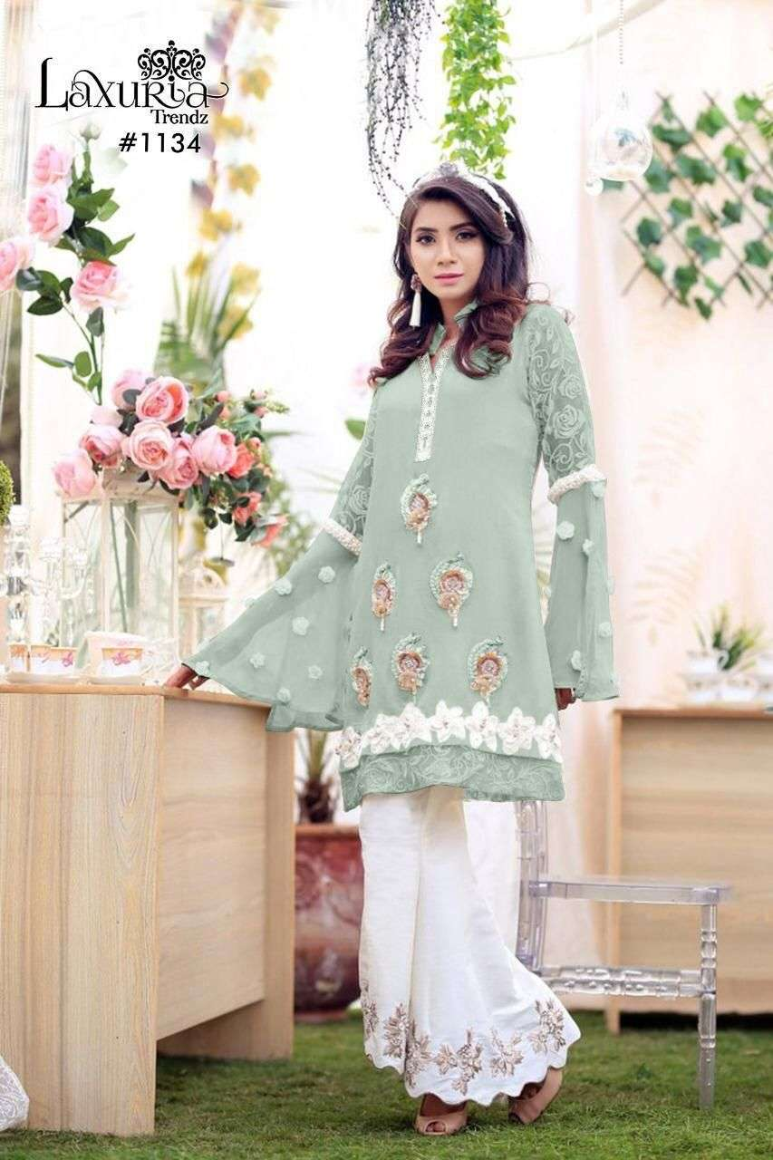 Laxuria Trends 1134 Fancy Pakistani Style Kurti Bottom Sets Collection