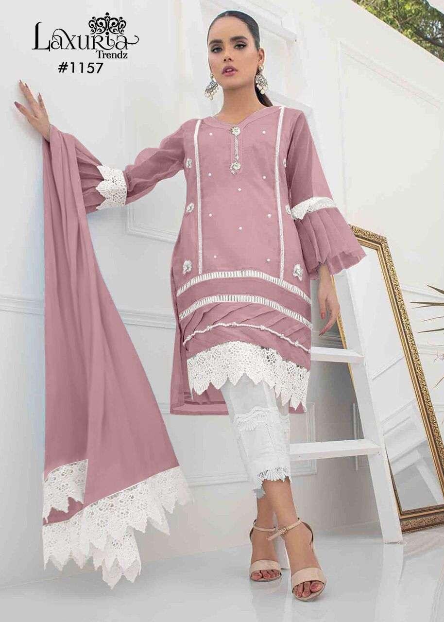 Laxuria Trends 1157 Exclusive Fancy Georgette Kurti Bottom Dupatta Set Collection