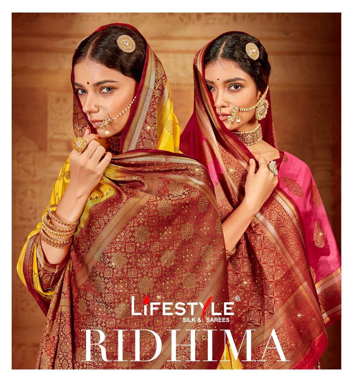 Lifestyle Ridhima Exclusive Ethnic Wear Silk Saree Catalog Supplier