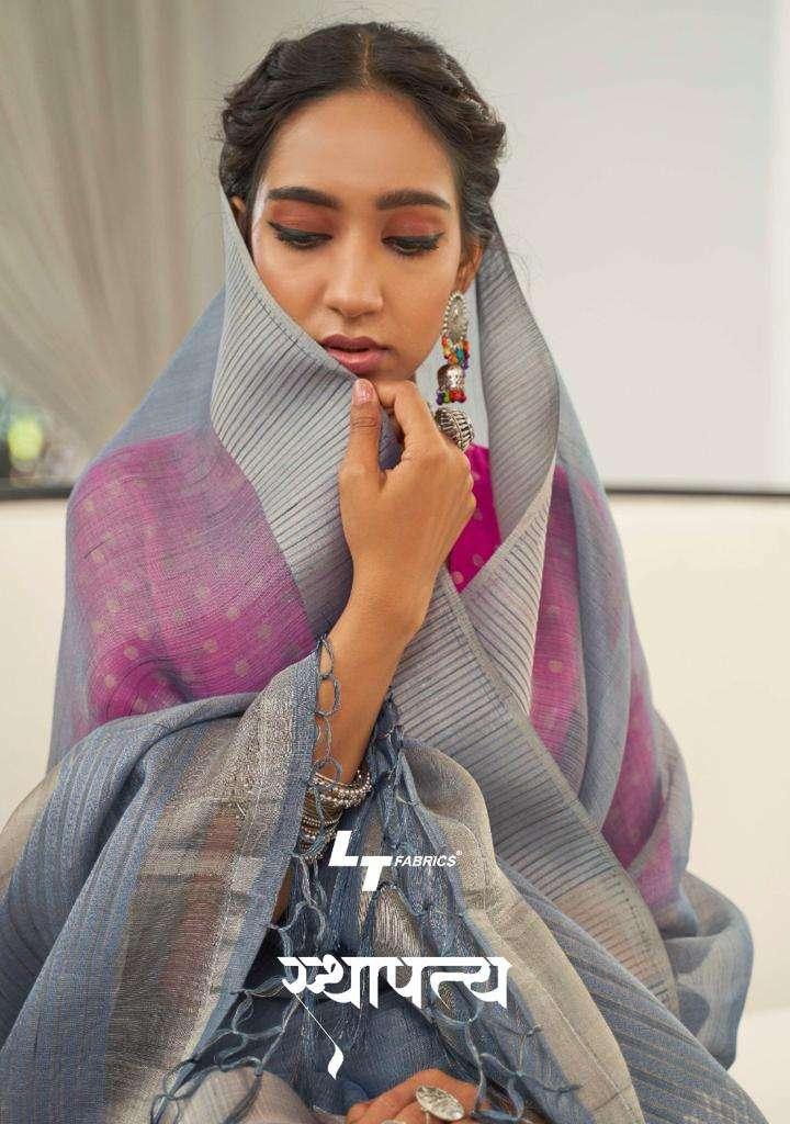 LT Fabrics Sthapitya Exclusive Silk Saree New Catalog Wholesale Dealer