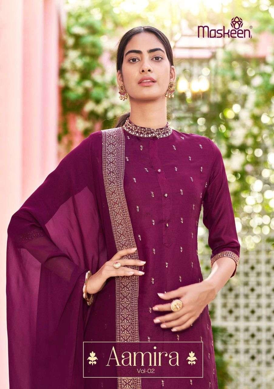 Maskeen Aamira Vol 2 Stylish Readymade Party Wear Dress Catalog buy Online