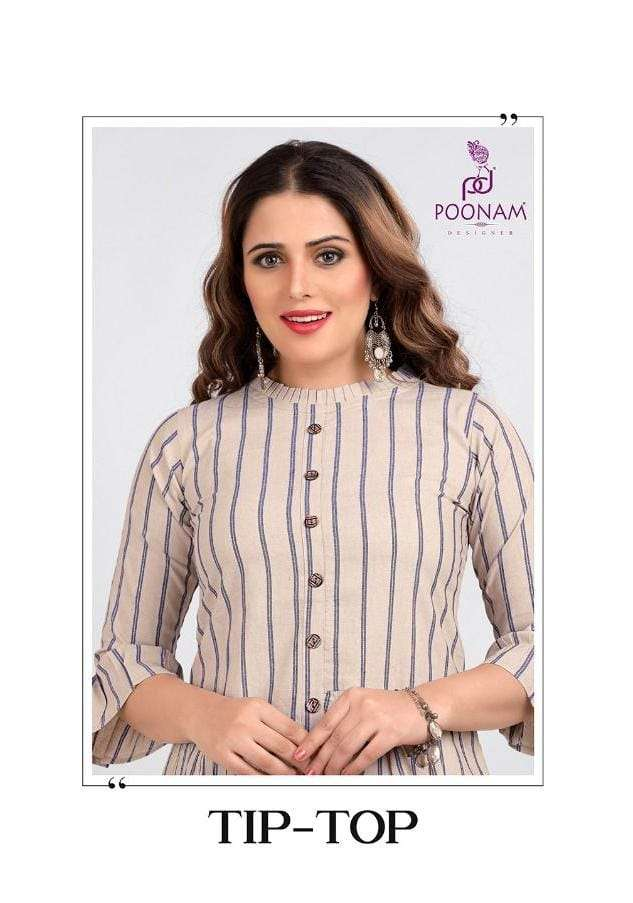 Poonam Tip Top Fancy Coton Short top Kurti Catalog Supplier