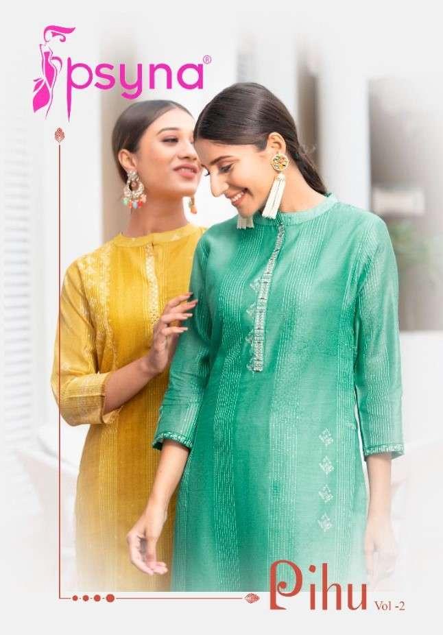Psyna Pihu Vol 2 fancy Stylish Kurti Pent Set New Collection
