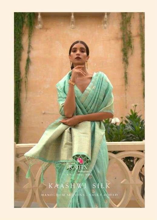 Rajtex Kaashwi Silk Exclusive Handloom Sequence Weaving Saree Catalog Dealer