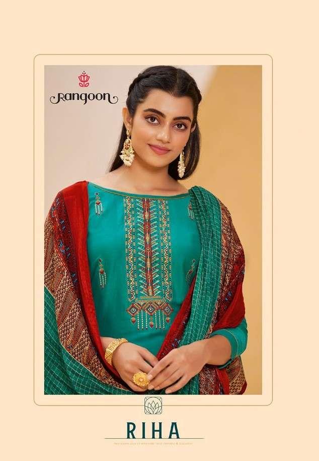 Rangoon Riha Exclusive Silk Readymade Salwar Suit Buy Online at Best Rate