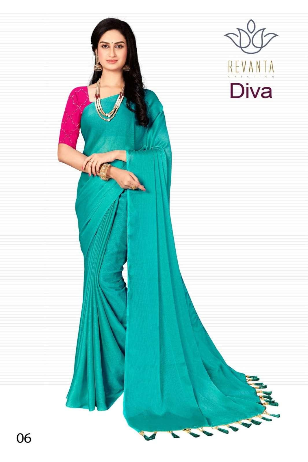 Revanto Combo Diva Fancy Indian Chiffon Saree Catalog Wholesaler