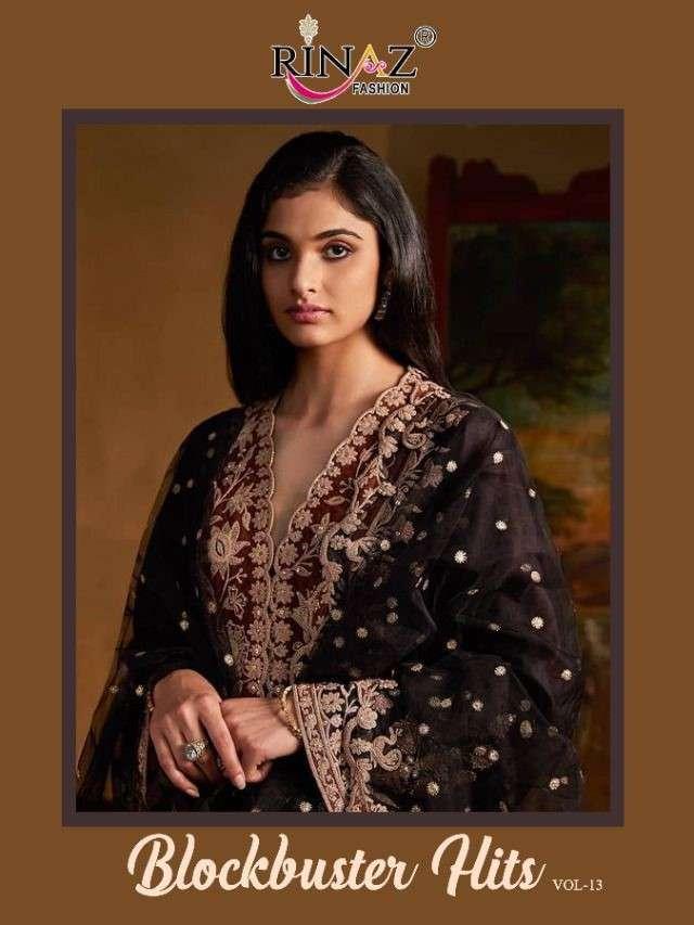 Rinaz Fashion Blockbuster Vol 13 Designer Pakistani Suit Catalog Wholesaler