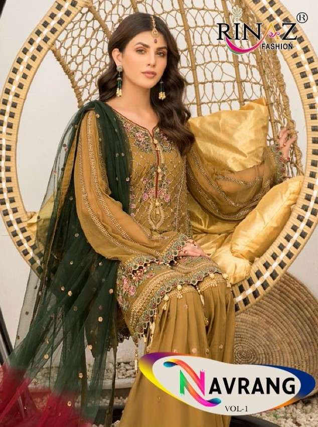 Rinaz navrang Vol 1 Designer Pakistani Suit Catalog Wholesaler