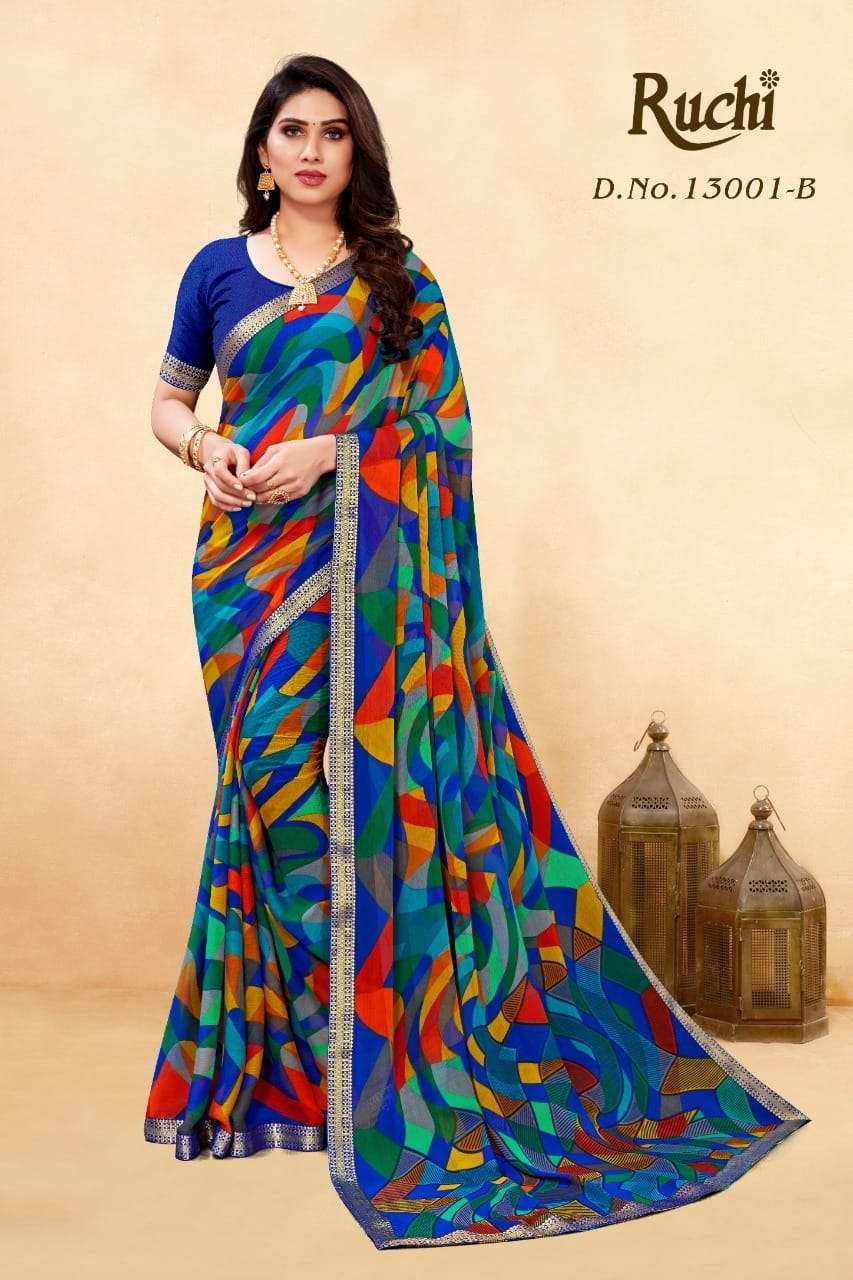 Ruchi Saree Simayaa 8th Edition Printed Chiffon Saree Catalog Supplier