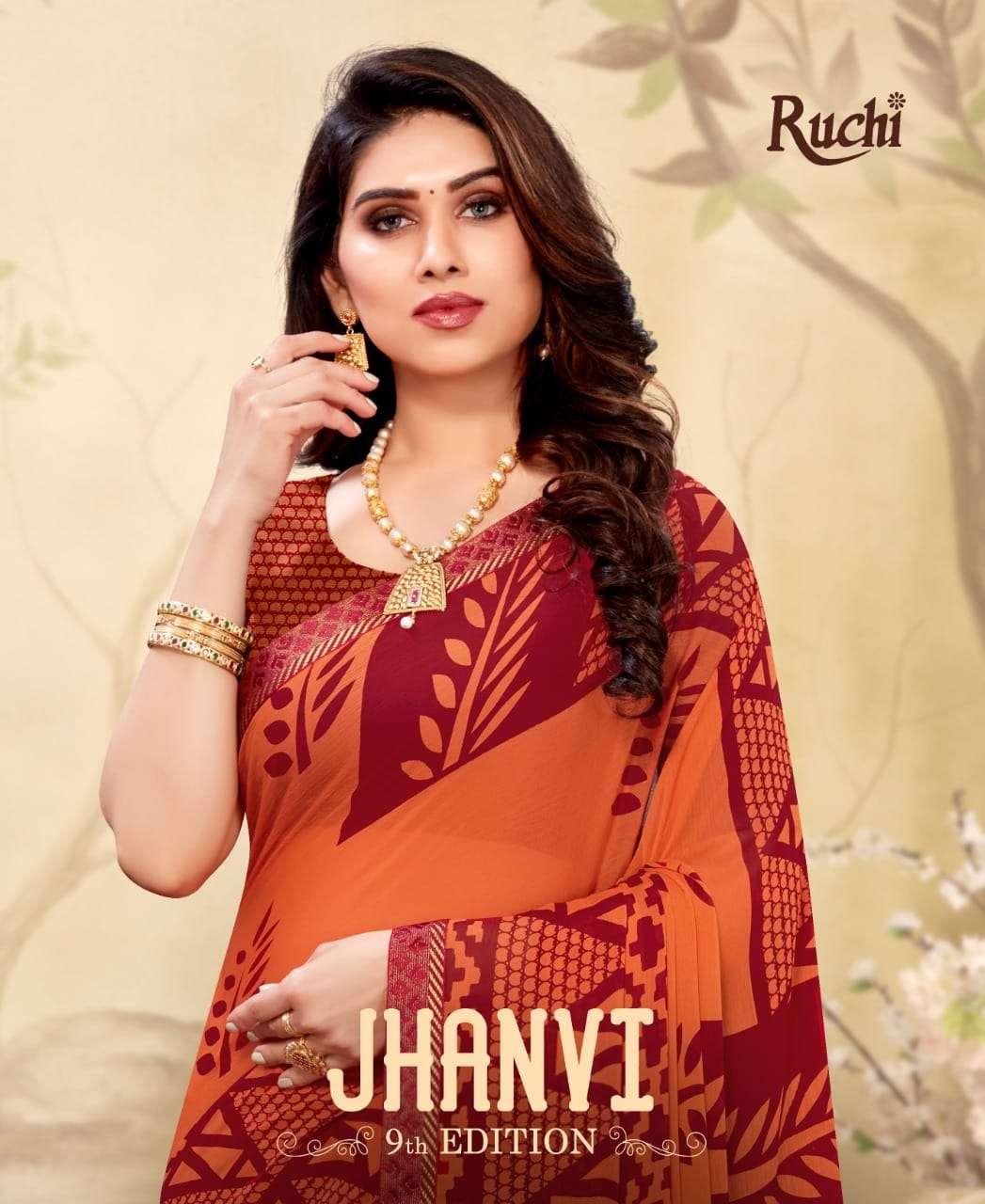 Ruchi Sarees Jhanvi Vol 9 Chiffon Print Saree Collection Dealer