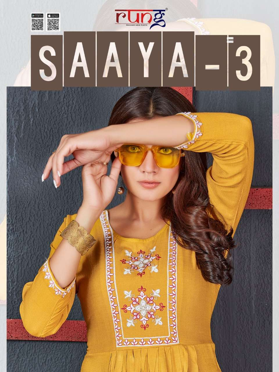 Rung Saaya Vol 3 Fancy Rayon Short Kurti catalog Wholesaler