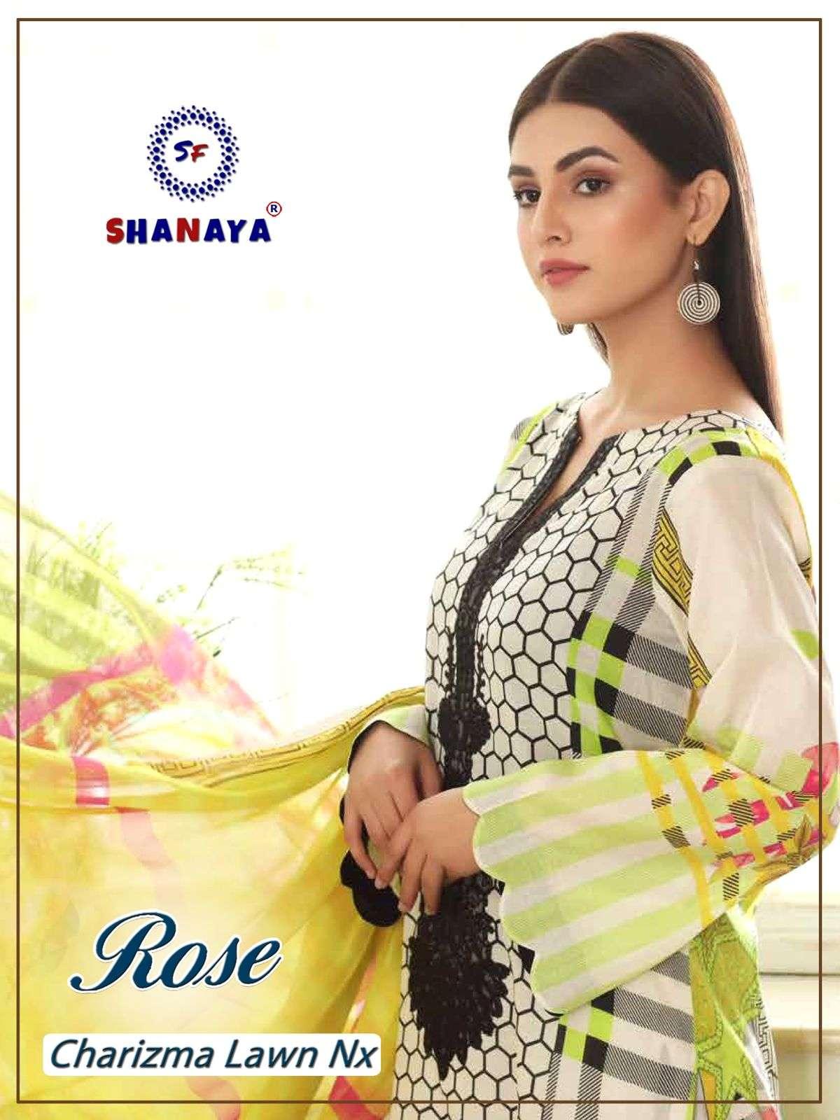 Shanaya Rose Charizma Lawn NX pakistani Suit Design at Best rate