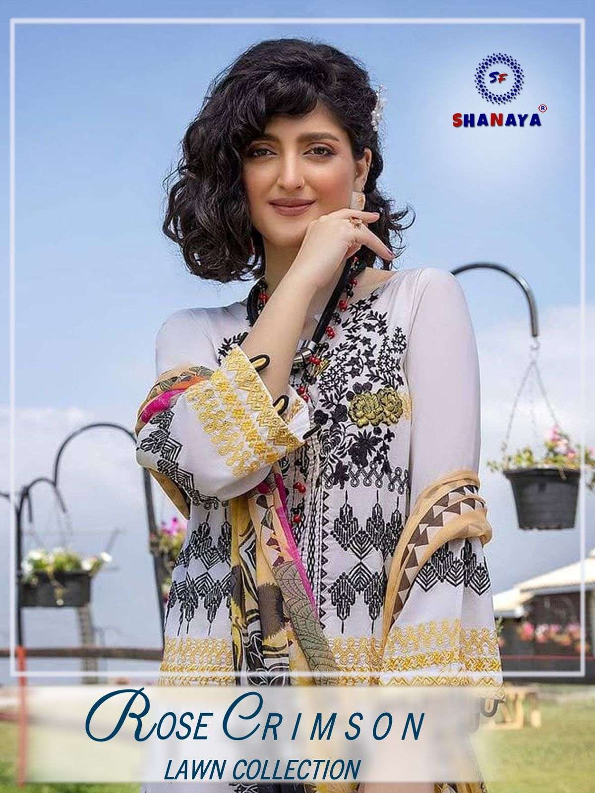 Shanaya Rose Crimson lawn Collection pakistani Suit Catalog Dealer