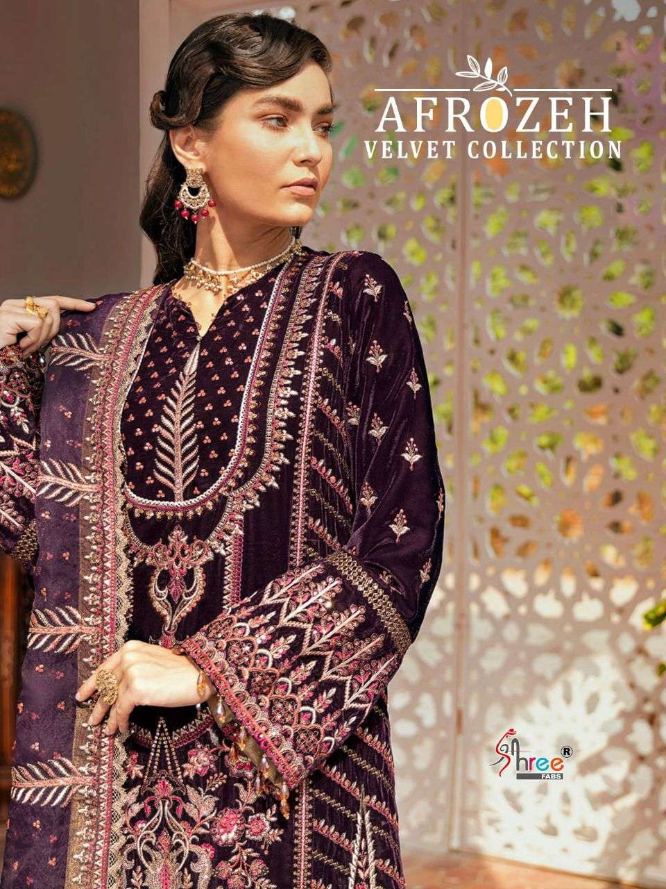 Shree fabs Afrozeh Velvet Pakistani Suit Collection at Best Rate