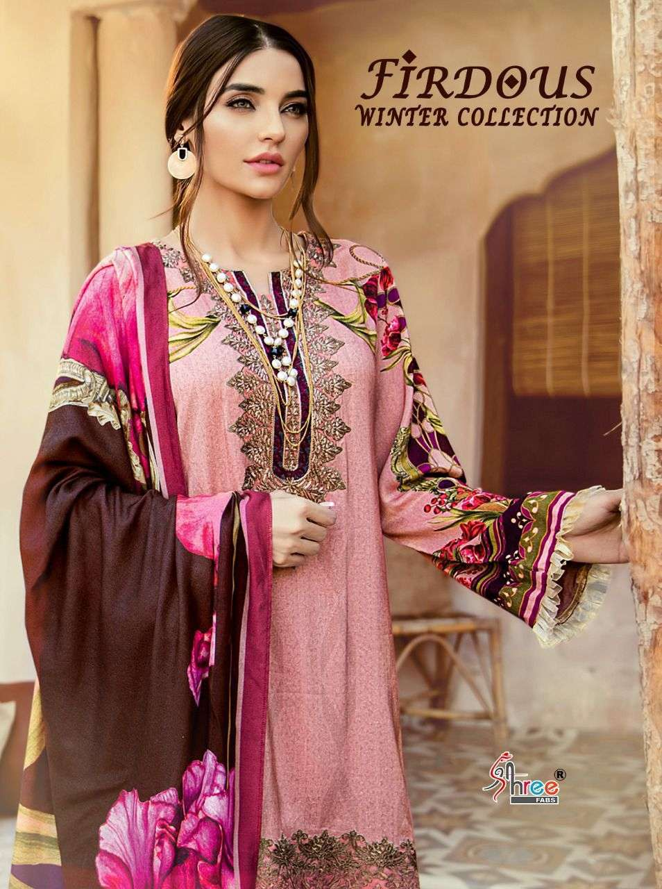 Shree Fabs Firdous Winter Collection Pakistani Pashmina Suit Wholesaler