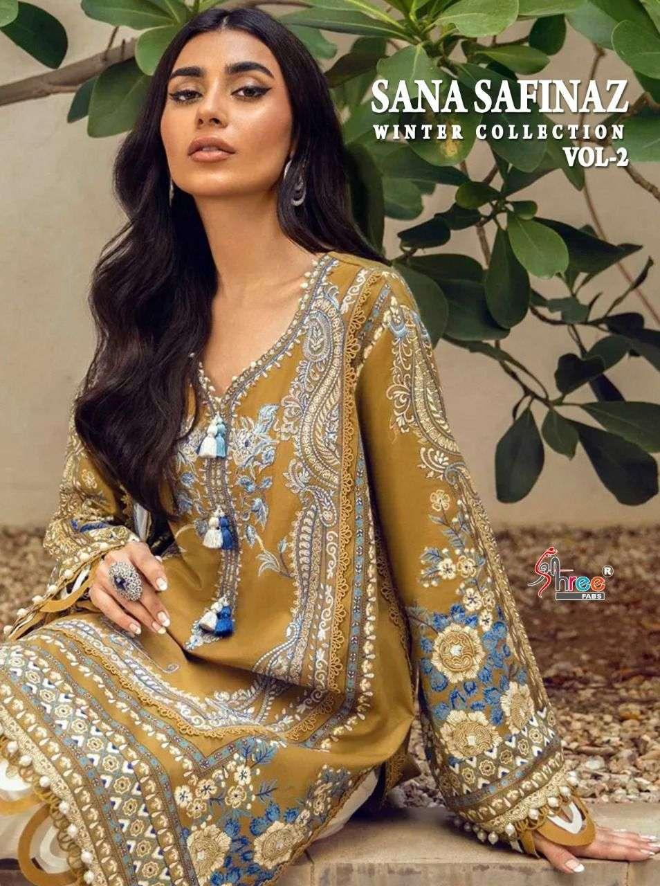 Shree Fabs Sana Safinaz Winter Collection Vol 2 Pashmina Pakistani Suit Designs