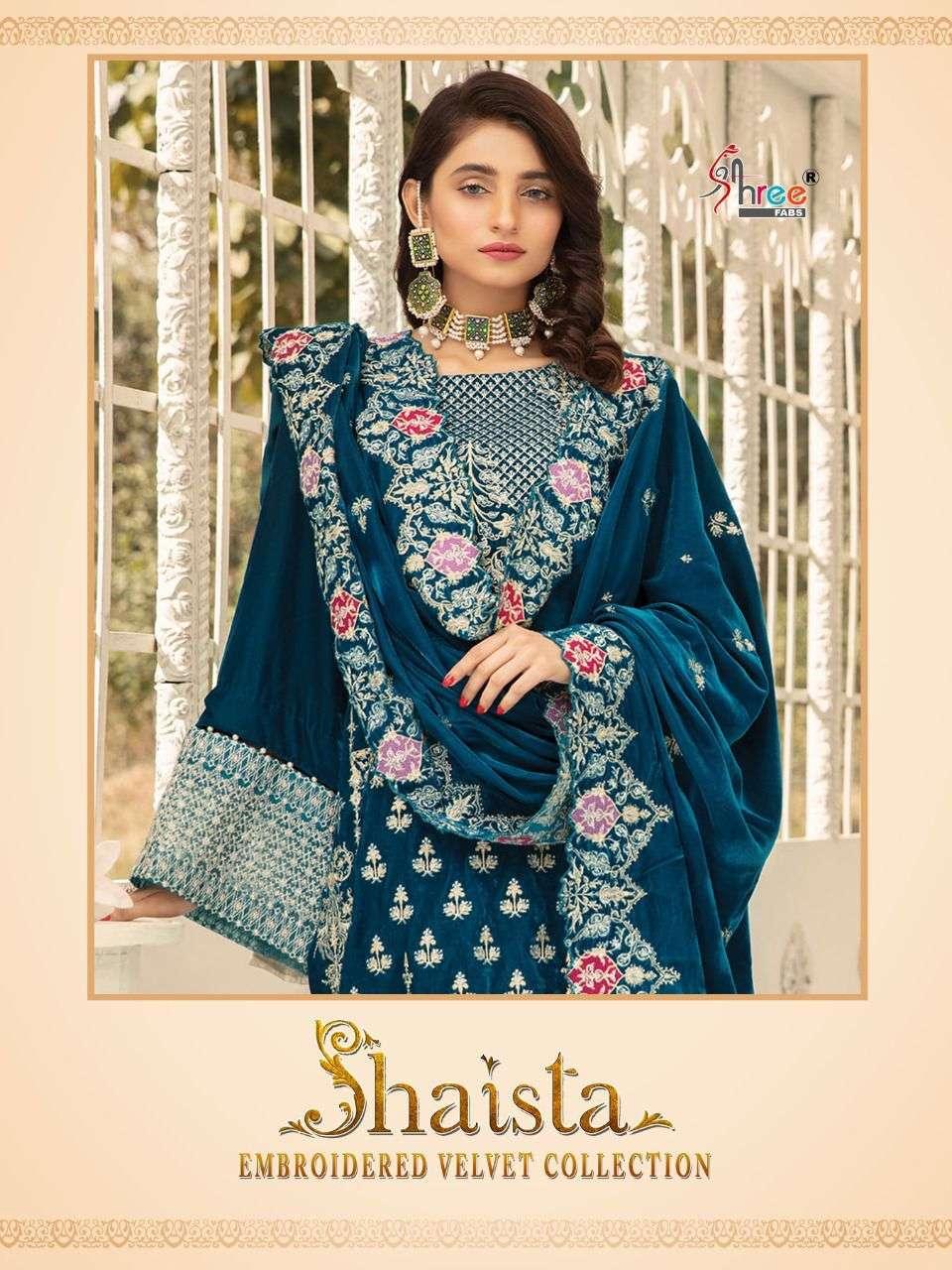 Shree Fabs Shaista Embroidered Velvet Collection Pakistani Suit Catalog dealer