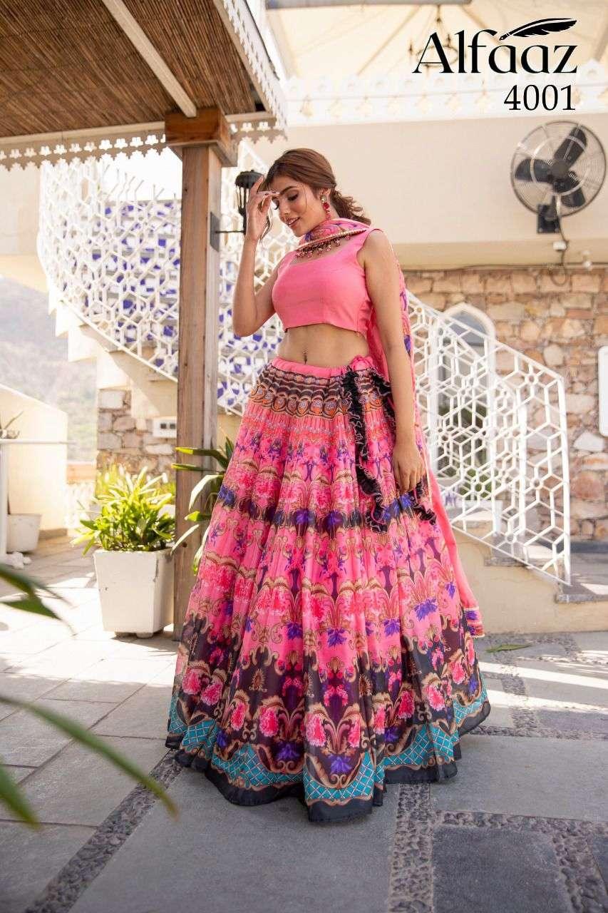 Stylishta Alfaaz Vol 4 Designer Floral Print Girlish Lehenga Choli Collection
