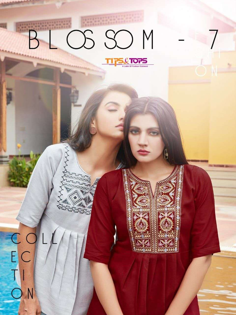 Tips and Tops Blossom Vol 7 Fancy Rayon Short tops Catalog Supplier
