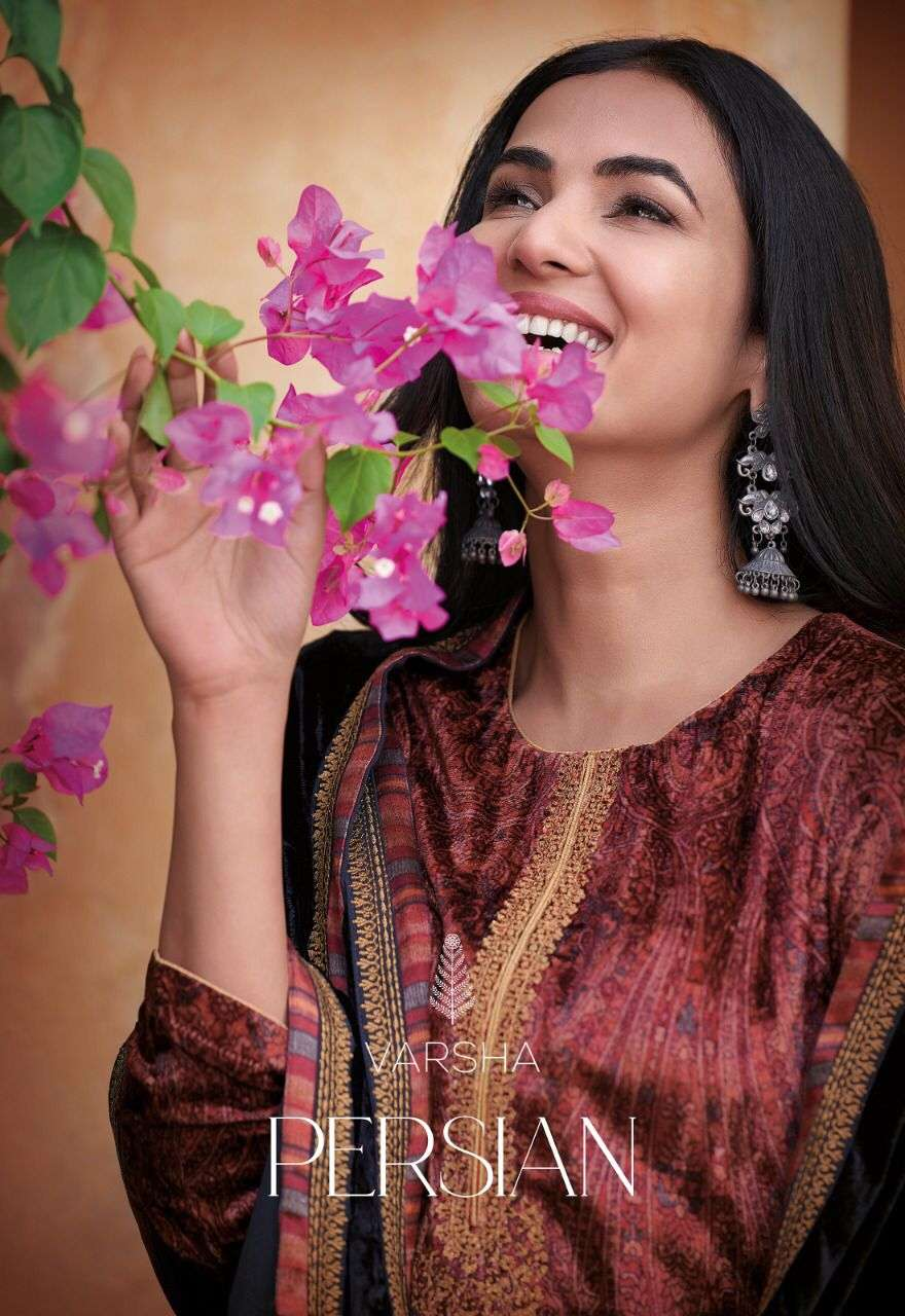 Varsha Fashion Persian Velvet Designer Cording Work Suit Wholesaler