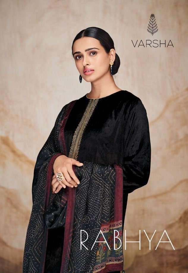 Varsha Fashion Rabhya Plush Velvet Designer Embroidery Work Suit Dealer