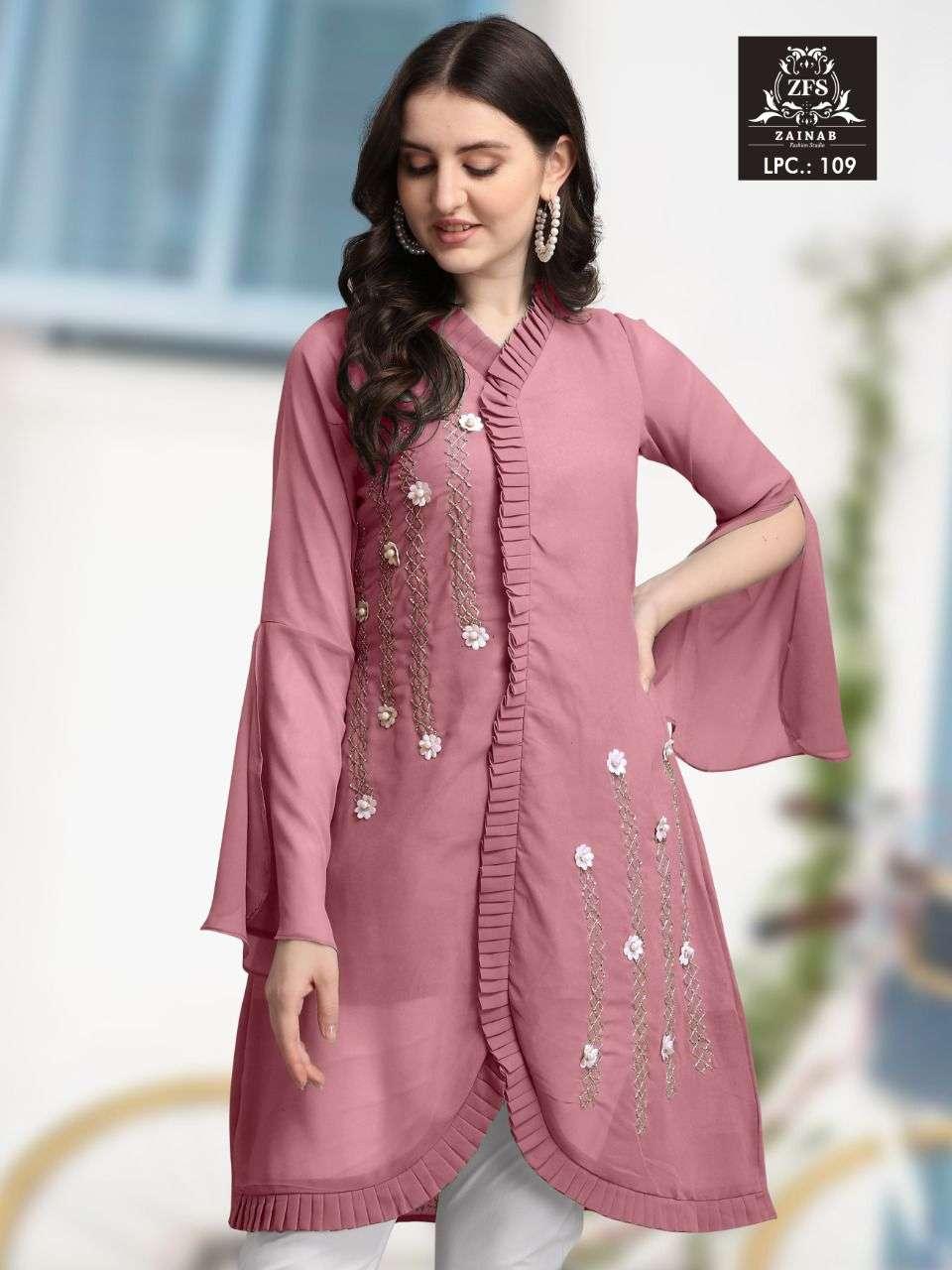 Zainab Fashion Studio LPC 109 Fancy Georgette Kurti Bottom Set Collection