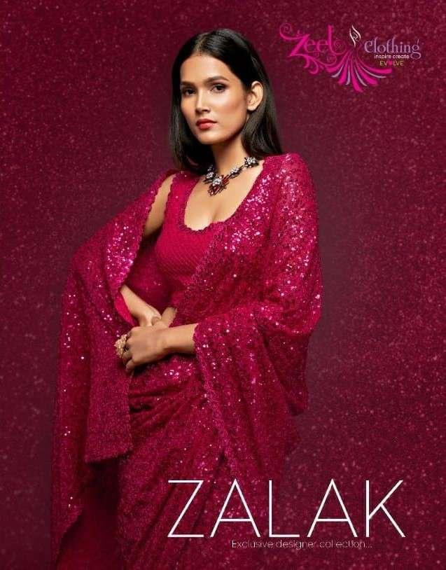 Zeel Zalak Exclusive Designer Fancy Saree Catalog Supplier