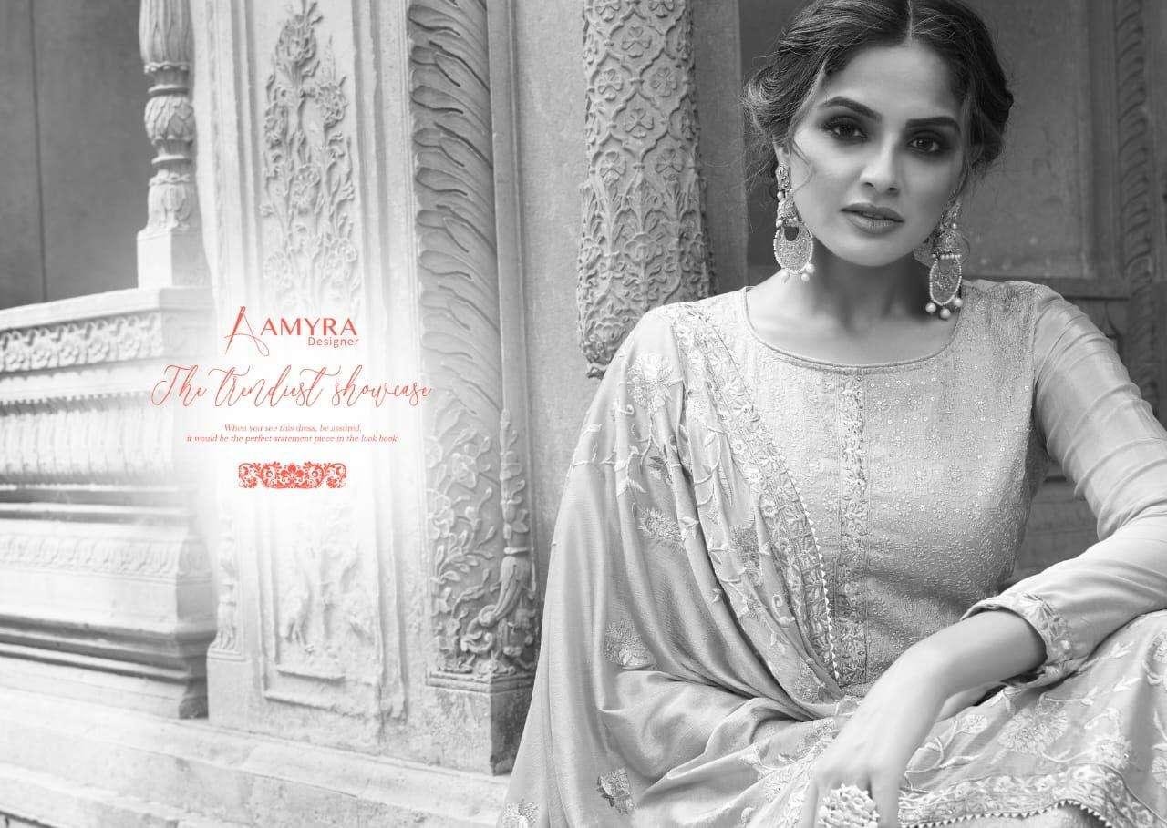 Amyra Designer Nazrana vol 3 Straight Fancy Suits Online