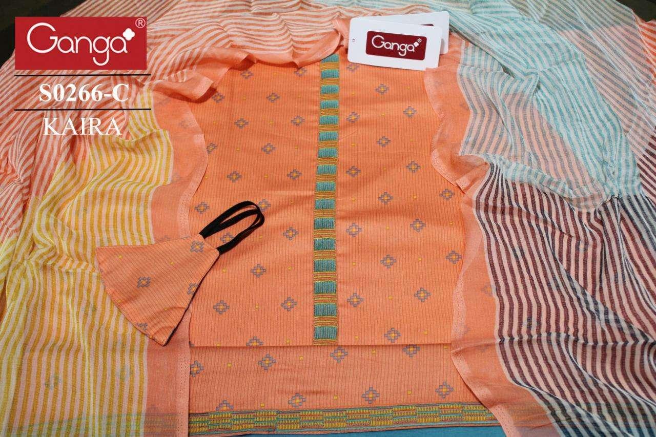 Ganga Kaira 266 Cotton Designer Salwar Kameez