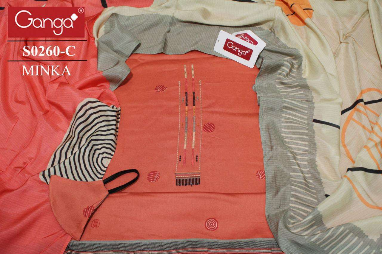 Ganga minka 260 Designer Cotton Salwar Kameez Latest Designs